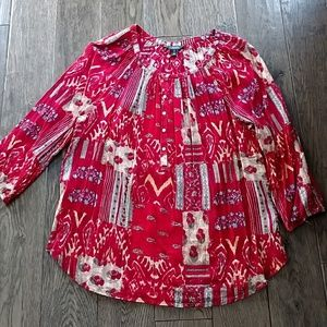 Chaps Crinkle Cotton Tunic